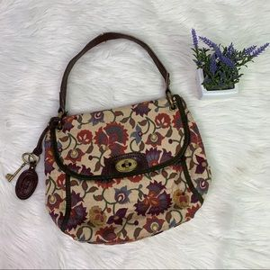 Fossil Long Live Vintage Boho Floral Shoulder Bag